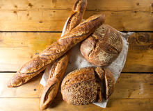 Variety of loaves of bread Royalty Free Stock Photography