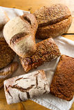 Variety of loaves of bread Stock Images