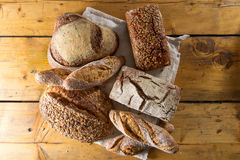 Variety of loaves of bread Royalty Free Stock Images