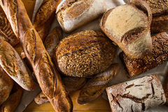 Variety of loaves of bread Stock Photos
