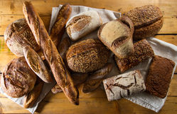 Variety of loaves of bread Stock Image