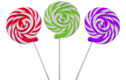 Variety of lollipops on white Stock Image