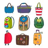Variety Luggage  Bags  Backpacks and Suitcases Royalty Free Stock Images