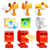 Variety of mailbox and the letter Icon sets.  Creative Icon Desi Royalty Free Stock Image