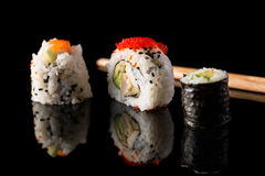 Variety of maki sushi Royalty Free Stock Photo