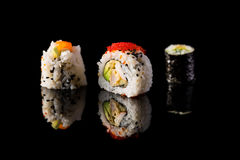 Variety of maki sushi Stock Image