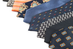 Variety of male ties Royalty Free Stock Image