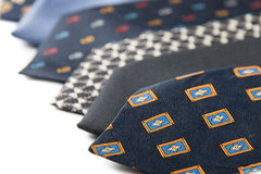 Variety of male ties Royalty Free Stock Photography