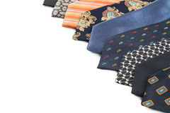 Variety of male ties Royalty Free Stock Images