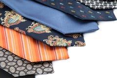 Variety of male ties Stock Photos