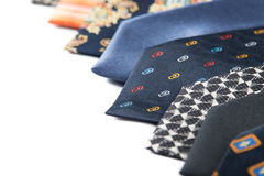Variety of male ties Stock Image