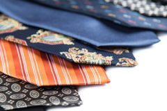 Variety of male ties Stock Photography
