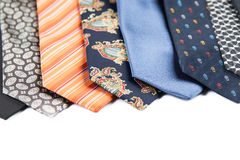 Variety of male ties Stock Images