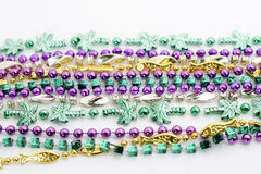 Variety of mardi gras beads. Variety of colorful Mardi Gras beads Royalty Free Stock Image