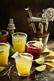 Variety of margarita cocktails Stock Photo