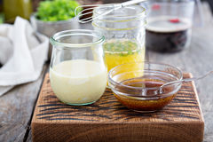 Variety of marinades for meat and poultry Royalty Free Stock Photo
