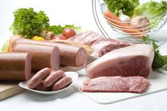 A variety of Meats Stock Photo