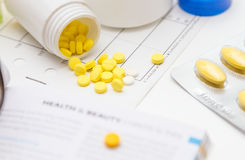 Variety of medicines and drugs Royalty Free Stock Photography