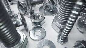 variety of metal screws and fasteners