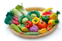 Variety of miniature clay vegetables Stock Photo