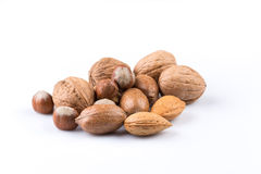 Variety of Mixed Nuts Royalty Free Stock Images