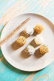 Variety of mochi dessert Royalty Free Stock Images