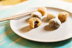 Variety of mochi dessert Royalty Free Stock Photo