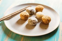 Variety of mochi dessert Royalty Free Stock Photography