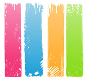 Variety of Modern Colored Grunge Banners stock illustration