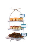 Variety muffin on stand Royalty Free Stock Images