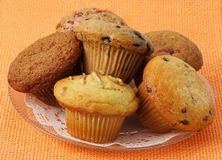 Variety of muffins Royalty Free Stock Image