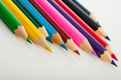 Variety multicolor wood pencils  Royalty Free Stock Image
