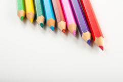 Variety multicolor wood pencils  Stock Image