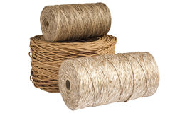 Natural cord rolls Stock Image