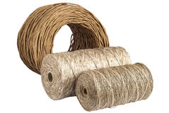 Natural cord rolls Royalty Free Stock Photography