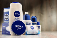 Variety of Nivea products including creme and soap Stock Photography
