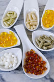 Variety of nutritional supplements. Royalty Free Stock Photo