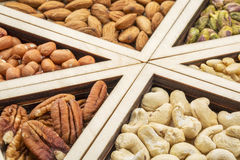 Variety of nuts abstract Stock Images