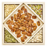 Variety of nuts abstract Royalty Free Stock Images