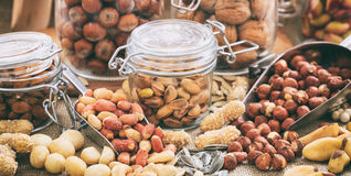 Variety of nuts composition Royalty Free Stock Photography