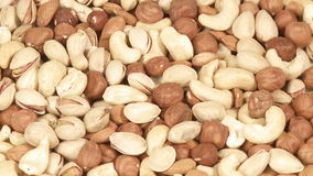 Variety of nuts stock video footage