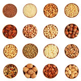 Variety of nuts Royalty Free Stock Photos