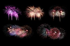 Free Variety Of Colors Mix Fireworks Or Firecracker Collections Stock Images - 158631534