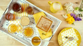 Free Variety Of Different Types Of Honey And Honeycomb. Royalty Free Stock Image - 158101616