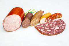 Variety Of German Sausages Royalty Free Stock Photos