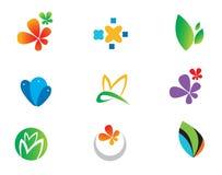 Variety Of Natural Theme Logos Royalty Free Stock Photos