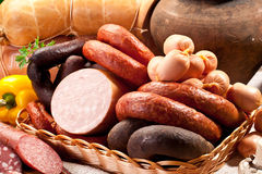 Free Variety Of Sausage Products. Stock Images - 39051464