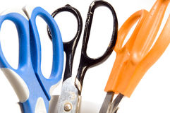 Variety office supply scissors Stock Image
