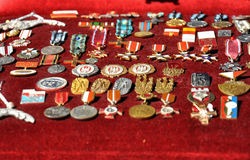 Variety of old medals Royalty Free Stock Images
