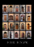 Variety of old Tuscan Doors Royalty Free Stock Image